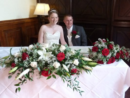Real brides another wedding flowers guide success story red and white wedding flowers created by june for a friend mightylinksfo