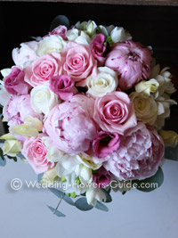 Cream Flowers In A Wedding Bouquet Delicate Soft Pink