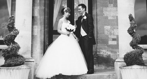 couple photographed at their wedding at Walton Hall